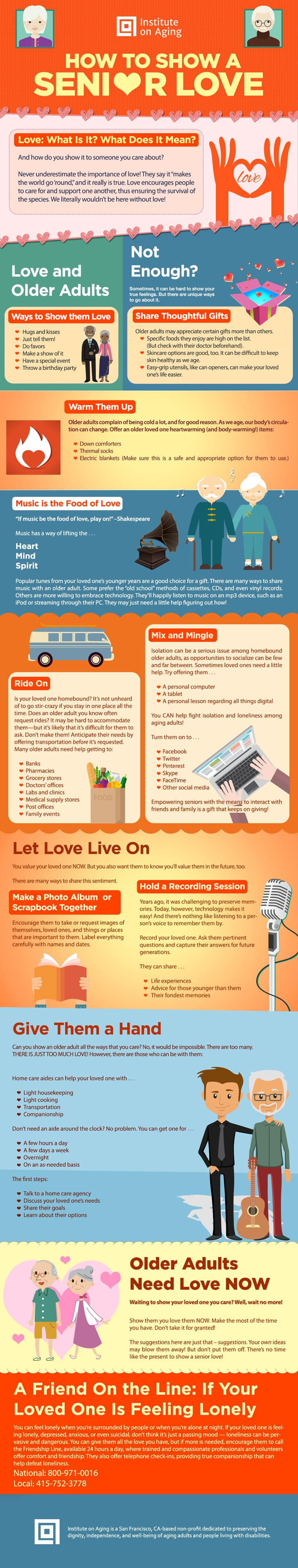 How to Show a Senior Love Infographic